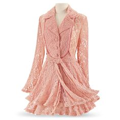 Coral Lace Jacket - Women's Clothing & Symbolic Jewelry – Sexy, Fantasy, Romantic Fashions