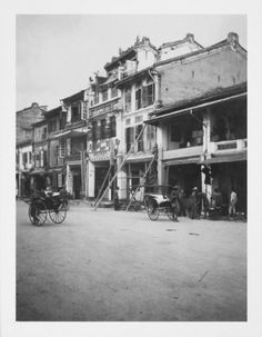 Shop A Street In Singapore - 1907 Print created by TheDigitalConsultant. Poster Prints, Posters, South Wales, Custom Framing, Singapore, Surface, Asia, Smooth, Photograph