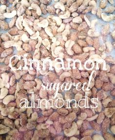 Super easy, fast, DELICIOUS recipe! Great teacher gift! Cinnamon sugared almonds. You can use any kind of nut! Christmas food. Yum!