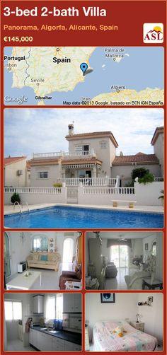 3-bed 2-bath Villa in Panorama, Algorfa, Alicante, Spain ►€145,000 #PropertyForSaleInSpain