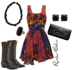 """""""Neon Moon"""" by rodeo-chic ❤ liked on Polyvore"""