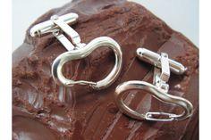 Climbing Carabiner Cufflinks - cufflinks for climbers Climbing Holds, Rock Climbing, Climbing Carabiner, Climbers, Cufflinks, Sterling Silver, Unique Jewelry, Bracelets, Mountain