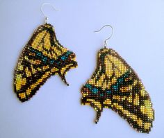 Swallowtail Butterfly Earrings by RareSpecimens on Etsy, $44.00