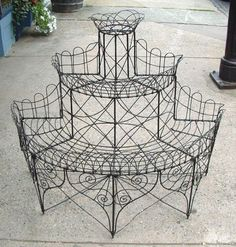 Price My Item: Value of Antique Victorian Wire Rack Plant Stand circa 1860
