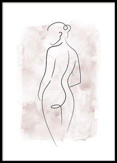 Watercolor Body Lines Poster Minimalist Drawing, Minimalist Art, Line Art, Desenio Posters, Simple Line Drawings, Shop Art, Fashion Wall Art, Art Posters, Inspiring Art