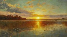 Realistic Landscape Oil Paintings By Peder Monsted - Fine Art Blogger