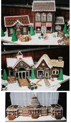 Amazingly intricate gingerbread houses designed by Maribeth's Bakery  www.maribethsbakery.com