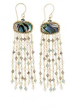Mother of Pearl Tassel Earrings | Calypso St. Barth