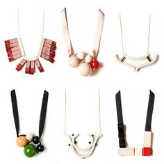 Handmade necklaces by Paris-based designer Marion Vidal, who is currently the featured artist on Anthropologie.