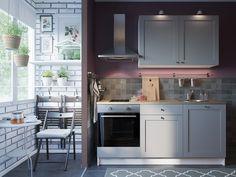 Visualization of kitchens for IKEA catalogs. on Behance Small Apartment Kitchen, Ikea Kitchen, Kitchen Redo, Kitchen Cabinets, Knoxhult Ikea, Ikea Deco, Kitchen And Kitchenette, Grey Kitchen Designs, Kitchen Storage Hacks