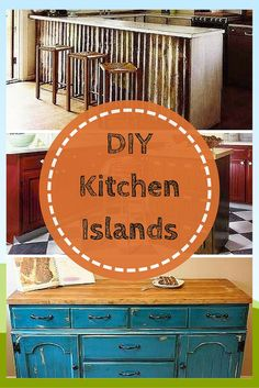 DIY one of these unique islands to make more space in your kitchen.