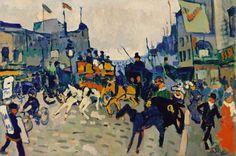 Regent Street, London Artwork By Andre Derain Oil Painting & Art Prints On Canvas For Sale Henri Matisse, André Derain, Art Fauvisme, Maurice De Vlaminck, Self Portrait Artists, London Painting, Gauguin, Oil Painting Reproductions, London Art