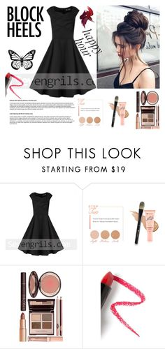 """Seven grils 45"" by difen ❤ liked on Polyvore featuring BHCosmetics, Charlotte Tilbury, Lapcos and vintage"
