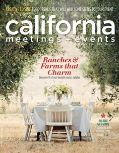 Cover of California Meetings & Events Magazine at Soul Food Farm with styling and Photography by Amber Johnston at My Sweetness Stylized Photography | The Pollen Mill Floral Designs