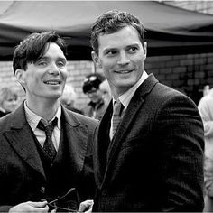 NEW/old picture of Jamie and Cillian Murphy on the set of #Anthropoid last year…