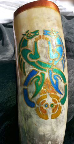 OOAK Viking Drinking Horn Celtic Entwined by MorrigansMantel, $85.00
