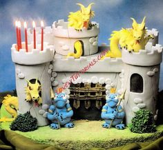 How to make 3D castle cake with dragons
