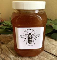 Raw Honey, Salsa, Greece, My Etsy Shop, Jar, Organic, Gift Ideas, Pure Products, Healthy
