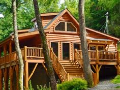 Black Mountain Cabin Rental: Creekside Log Home - On Creek / Hot Tub / Trails / Close To Town / Pet Friendly Blue Ridge Mountain Cabins, Black Mountain, Future House, My House, Log Cabin Homes, Log Cabins, Nature Sauvage, Restaurants, Destinations
