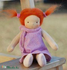 Klasszikus waldorf baba - öltöztethető baba - textil baba - vörös hajú kislánybaba (naronka) - Meska.hu