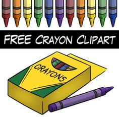 FREE Crayon Clipart from Wendy Candler's Digital Classroom Clipart store on TpT.