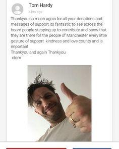 いいね!7件、コメント1件 ― 🎀 Tarahさん(@tarah_vaness)のInstagramアカウント: 「Another lovely pic and message from Tom on his #JustGiving page xx #tomhardy #tomhardyfans #british…」
