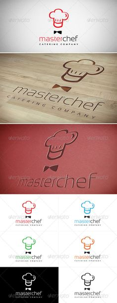 Master Chef Logo #GraphicRiver Master Chef Great logo for modern catering, restaurant, culinary, gastronomy business. 4 Color versions + Black & White 100% Vector shapes All text editable AI & EPS format Easy customization Good layers organization PDF Help file included Freeware fonts used: Sansation .dafont /sansation.font Please rate, if you like it. Created: 1November12 GraphicsFilesIncluded: VectorEPS #AIIllustrator Layered: Yes MinimumAdobeCSVersion: CS Resolution: Resizable Tags: bar…