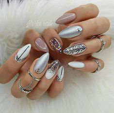 The trend of almond shape nails has been increasing in recent years. Many women who love nails like almond nail art designs. Almond shape nails are suitable for all colors and patterns. Almond nails can be designed to be very luxurious and fashionabl Cute Summer Nail Designs, 3d Nail Designs, Square Nail Designs, Cute Summer Nails, Simple Nail Designs, Beautiful Nail Designs, Cute Nails, Nails Design, Spring Nails