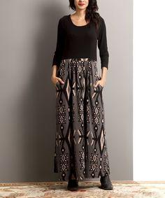 Love this Gray Southwest Long-Sleeve Maxi Dress on #zulily! #zulilyfinds