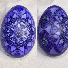 Batik Style Egg Pysanky Pisanki Mandala Lotus Monochromatic in Purple | eBay
