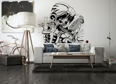 Wall Vinyl Sticker Decals Mural Room Design Pattern Art Soldier Sniper Scull War bo1989 by RoomDecalsAndDesigns on Etsy