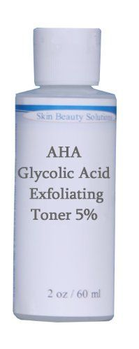2 oz Glycolic Acid Skin Toner 5% - acne, wrinkles, large pores, antiagin by Skin beauty solutions. $12.99. Any skin care line is not complete without either a toner or astringent as part of the skin care regime you recommend.. It is a critical step that is often over looked. This step closes the pores, adjusts the pH of the skin and removes any remaining oil or dirt from the skin.. This is the perfect Toner to round out your antioxidant line of products.  All skin can benef...
