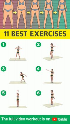 11 Best Standing Exercises (No Jumping) To Lose Weight At Home - Burn fat at home with no-jumping exercises that are included in today's workout video! Full Body Gym Workout, Lower Belly Workout, Gym Workout Videos, Gym Workout For Beginners, Fitness Workouts, Butt Workout, Fitness Tips, Fitness Motivation, Health Fitness