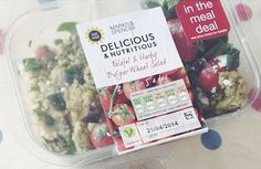 Falafel and Herby Bulgur Wheat Salad from Marks and Spencer