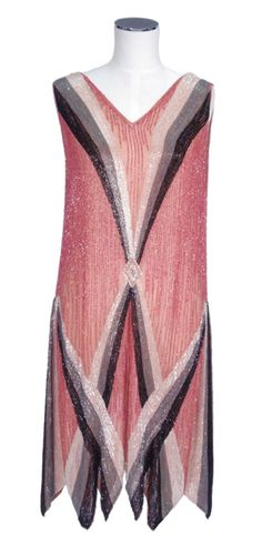 1920s beaded dance dress, Lisa Ho collection through Mossgreen auctioneers