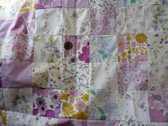 Purple Vintage Sheet Quilt Top by Local Honey Crafts, via Flickr