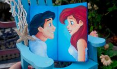 Ariel/Eric mini canvas set from Jaysart on Etsy. Saved to disney art. Shop more products from Jaysart on Etsy on Wanelo. Baby Canvas, Cute Canvas, Mini Canvas Art, Little Mermaid Bathroom, Ariel The Little Mermaid, Disney Love, Disney Art, Ariel Disney, Disney Canvas Paintings