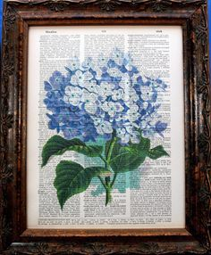 Hey, I found this really awesome Etsy listing at http://www.etsy.com/listing/104472356/purple-hydrangea-art-print-on-vintage