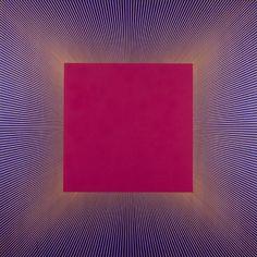 Richard Anuszkiewicz - Deep Magenta Square, 1978.