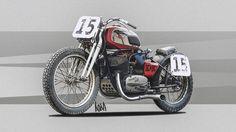 """Jawa Custom Celo"" illustration by Alexandr Podobrij Jawa 350, Classic Bikes, Dream Garage, Custom Bikes, Sport Cars, Bobber, Old Cars, Cars And Motorcycles, Motorbikes"