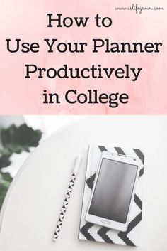Are you ready to learn how to use your planner productively in college? This post is full of my best planner productivity tips!