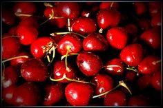 Sweet and juicy red cherries Cherry Season, Cookie Pie, Ruby Red, Fruit, Cherries, Sweet, Egg, Maraschino Cherries, Cherry Fruit