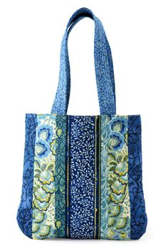 Floral Strips Bag  Sew fabric strips to a muslin foundation to create a simple, yet stylish bag.
