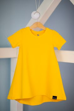 Slovak brand - M-I-N-I-M-A-L Fashion S/S 2019 Short Sleeve Dresses, Dresses With Sleeves, Yellow Dress, Kids Fashion, Sleeve Dresses, Yellow Gown, Gowns With Sleeves, Junior Fashion, Babies Fashion