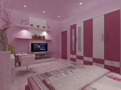 Pink and purple paint ideas dark purple paint purple paint colors for bedrooms Purple Paint Colors, Bedroom Paint Colors, Cute Bedroom Decor, Kids Bedroom, Girl Bedrooms, Home Design Living Room, New Beds, Home Wallpaper, Trendy Home