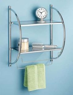 Save $10.02 on Whitmor 6060-3570-BB Chrome 2-Tier Shelf and Towel Rack; only $19.97 + Free Shipping