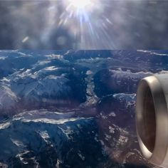 Another planet? Just ours actually: flying over the German Alps OMW to beautiful Bucharest (2). (à Stubai Alps)