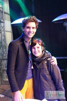 Mika and a fan @ Saturn, in Bergamo, Italy - December 7 2013