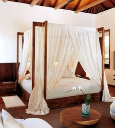 i love this modern canopy bed
