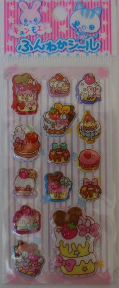 Kawaii 3D Ice Cream and Sweets Mini Sticker Sheet
